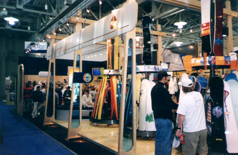 Signage at Burton booth